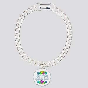 Knitting Happiness Charm Bracelet, One Charm
