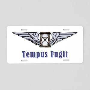 Tempus Fugit Aluminum License Plate