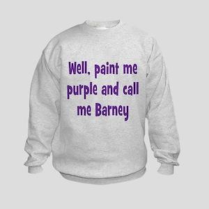 Call me Barney Kids Sweatshirt