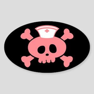 Nurse Lolly Sticker (Oval)