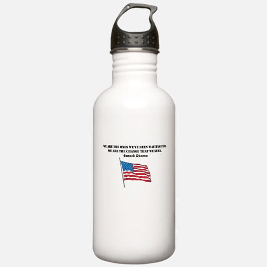 Obama - We Are The Change Water Bottle