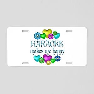 Karaoke Happiness Aluminum License Plate