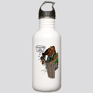 Horse at Drop Jump Stainless Water Bottle 1.0L