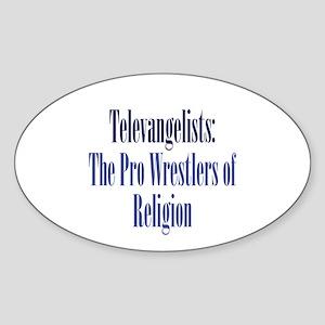 Pro-Wrestler of Religion Sticker (Oval)