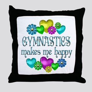 Gymnastics Happiness Throw Pillow