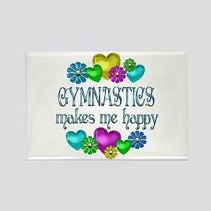 Gymnastics Happiness Rectangle Magnet