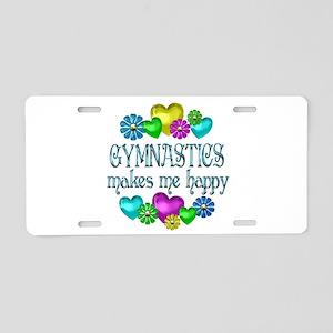 Gymnastics Happiness Aluminum License Plate