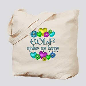 Golf Happiness Tote Bag