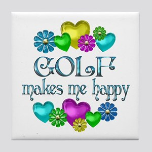 Golf Happiness Tile Coaster