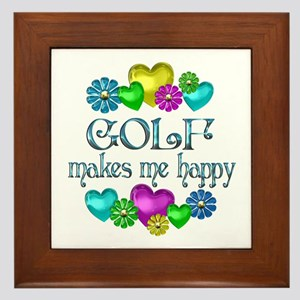 Golf Happiness Framed Tile