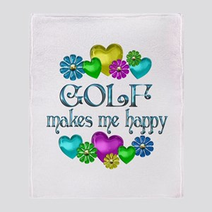 Golf Happiness Throw Blanket