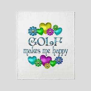 Golf Happiness Throw Blanket
