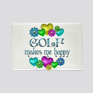 Golf Happiness Rectangle Magnet