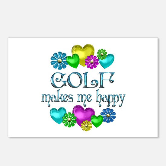 Golf Happiness Postcards (Package of 8)