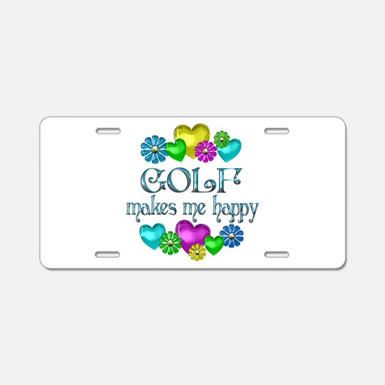 Golf Happiness Aluminum License Plate