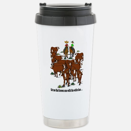 Cattle & Horses Stainless Steel Travel Mug