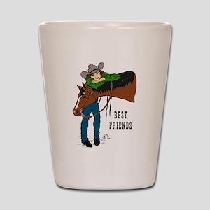 Girl & Horse Shot Glass