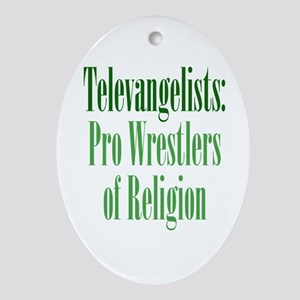 Pro-Wrestler of Religion Ornament (Oval)