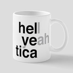 helvetica hell yeah Mug