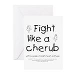 Fight Like A Cherub Greeting Cards (Pk of 20)