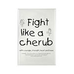 Fight Like A Cherub Rectangle Magnet (10 pack)