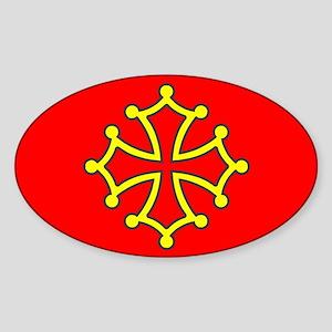 Occitan Flag Sticker (Oval)
