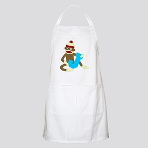 Sock Monkey Monogram Boy J Apron