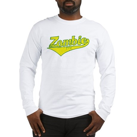 Zombie Basball Long Sleeve T-Shirt