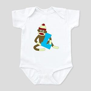 Sock Monkey Monogram Boy L Infant Bodysuit