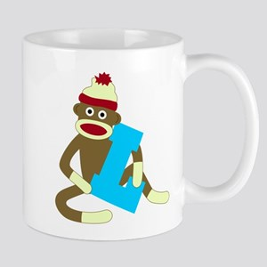 Sock Monkey Monogram Boy L Coffee Mug