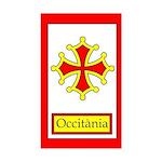 Occitan Flag Sticker (Rectangle)