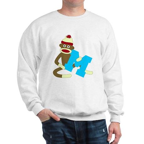 Sock Monkey Monogram Boy M Sweatshirt