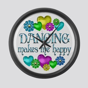 Dancing Happiness Large Wall Clock