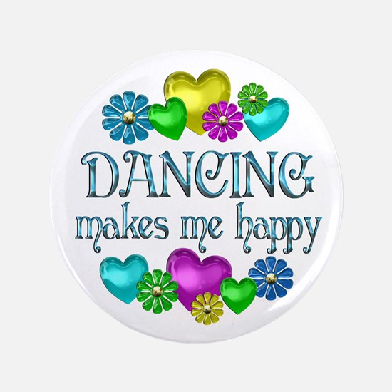 "Dancing Happiness 3.5"" Button (100 pack)"