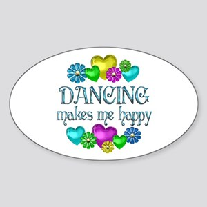 Dancing Happiness Sticker (Oval)