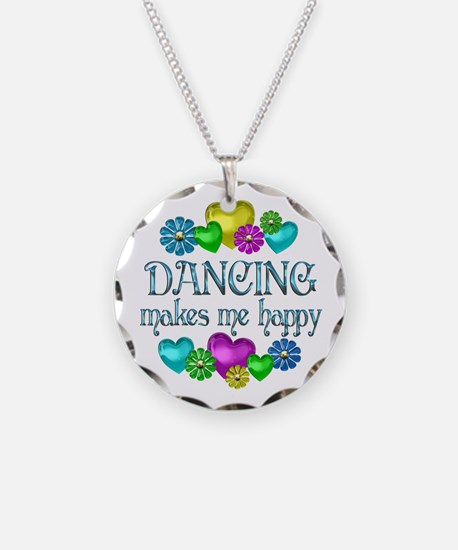 Dancing Happiness Necklace Circle Charm