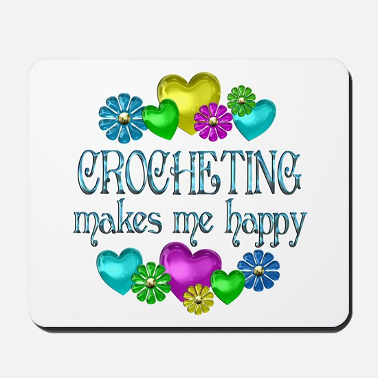 Crocheting Happiness Mousepad