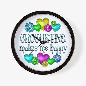Crocheting Happiness Wall Clock