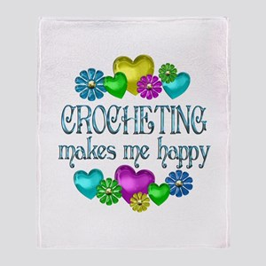 Crocheting Happiness Throw Blanket