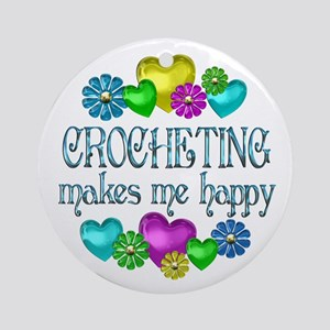 Crocheting Happiness Ornament (Round)