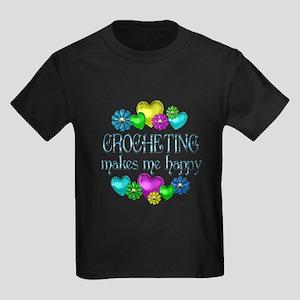Crocheting Happiness Kids Dark T-Shirt