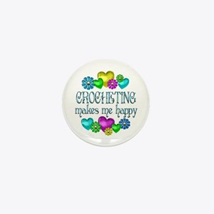 Crocheting Happiness Mini Button