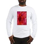 Pink Leaves Long Sleeve T-Shirt