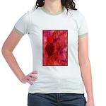 Pink Leaves Jr. Ringer T-Shirt
