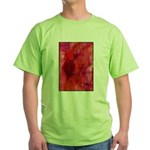 Pink Leaves Green T-Shirt