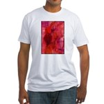 Pink Leaves Fitted T-Shirt