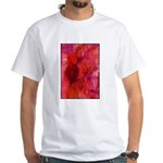 Pink Leaves White T-Shirt