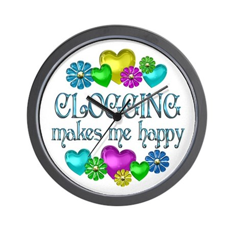 Clogging Happiness Wall Clock
