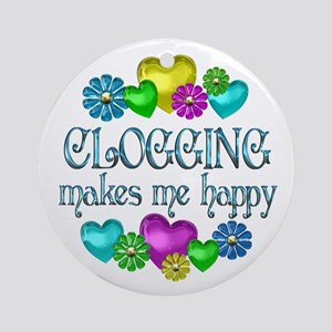 Clogging Happiness Ornament (Round)