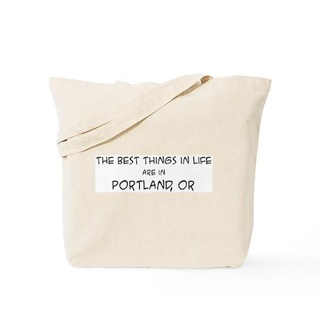 Best Things in Life: Portland Tote Bag